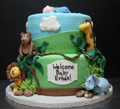 jungle baby shower cakes jungle baby shower cakes decorating of party