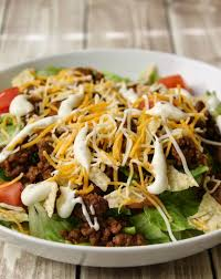 easy salad recipe quick easy taco salad recipe views from the ville