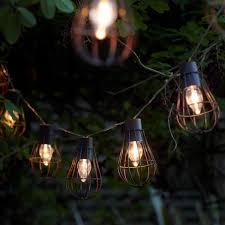 Solar Lantern String Lights by Set Of 10 Rustic Metal Cage Solar String Lights Auraglow Led