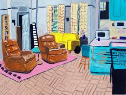 these illustrations of iconic sitcom living rooms will feed your