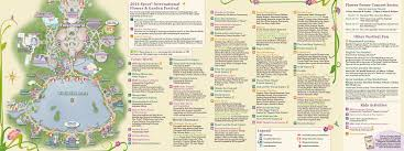 Map Of Epcot 2014 Epcot Flower And Garden Festival Guide Map Photo 1 Of 2