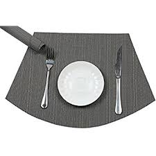 placemats for round table amazon com tablecare wedge silicone placemats for round table