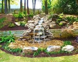 Backyard Pond Landscaping Ideas Backyard Rock Waterfall Ideas Backyard Pondless Waterfall Ideas