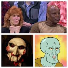 Blake Griffin Meme - blake griffin was birthed from jigsaw and handsome squidward meme guy