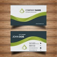 Business Card Backgrounds Free Download Ai Modern Stylish Green Business Card Vector Free Download Pikoff