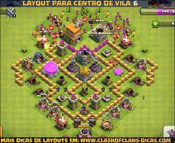clash of clans layouts de centro de vila 6 para clash of clans clash of clans dicas