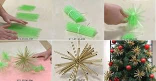 diy plastic straw ornaments home design garden architecture
