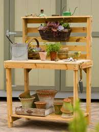 How To Make A Table Out Of Pallets 10 Potting Bench Ideas With Free Building Plans Tuesday Ten