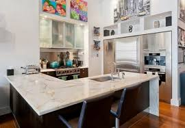 new york loft kitchen design modern kitchen marble countertop and two bar chair dweef com