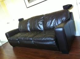 fs leon u0027s valencia queen leather sofa bed w 22 months remaining
