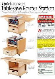 table saw station plans 3091 table saw and router workstation plans router table saw dyi