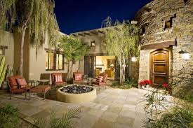 Backyard Flagstone Patio Ideas 33 Stone Patio Ideas Pictures Designing Idea