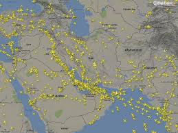 Flight Path Map Shifting Skies Over The Middle East As Flight Paths Evolve The