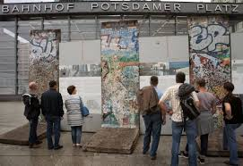 berlin wall sections 3 wall sections and information panels picture of memorial of