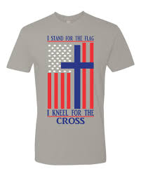 Flag And Cross Stand For The Flag And Kneel For The Cross Option 2