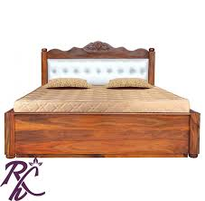 Buy Wooden Bed Online India Buy Carving Cushion Bed Online In India Rajhandicraft Furniture