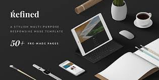 refined responsive multi purpose muse template by a2d themeforest