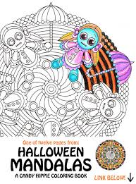 halloween mandala coloring victoria voodoo