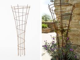 Obelisk Trellis Metal Galvanised Steel Garden Obelisks Moore Designs Garden Ideas