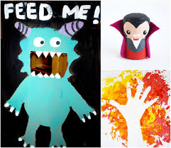 Halloween Crafts For Kindergarten Mollymoocrafts Halloween Crafts From The Weekly Kids Coop