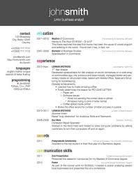 Successful Resume Format Excellent Resume Template Latex 11 Packages Cv Resume Ideas