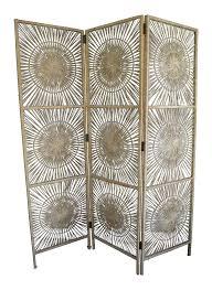 7ft Room Divider by Vintage Sunburst Wicker Room Divider Chairish
