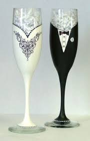 wedding glasses groom wine glass painting glass glass
