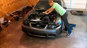 99 04 mustang exhaust 99 04 mustang 3 8 v6 engine removal