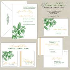 green wedding invitations emerald green wedding invitations botanical wedding