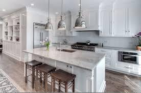 White Glazed Kitchen Cabinets Custom White Kitchen Cabinets With Modern Contemporary Kitchen