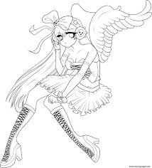 anime angel 5 coloring pages printable