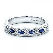 wedding bands on sapphire wedding band with matching engagement ring kirk kara