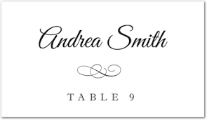 wedding place cards template black meandering flourish folded place card template downloadble