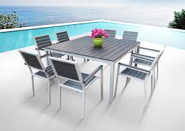 8 Seater Patio Table And Chairs Outdoor Rectangular Patio Table With Umbrella Patio