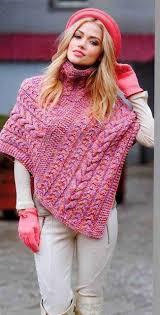 ponchos a palillo patrón 1332 poncho dos agujas ctejidas crochet y dos agujas