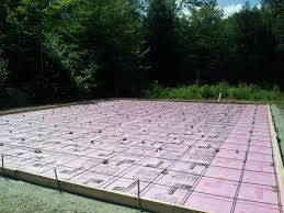 Build A Basketball Court In Backyard Concrete Basketball Court In Maine