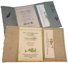 handmade recycled wedding invites eco friendly flower and