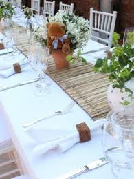 Teddy Bear Centerpieces by Teddy Bear Centerpieces From My Sons Baptism Party Party Decor