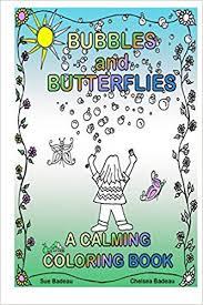 bubbles butterflies calming coloring book sue badeau