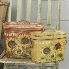 sunflower kitchen canisters ceramic sunflower kitchen canister set collections etc