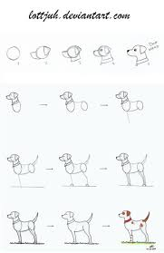 cute animal drawing tutorials simple dog body tutorial by lottjuh