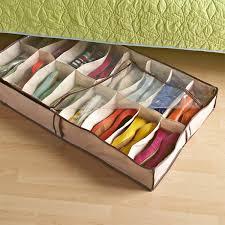 shoe organizer under bed shoe storage tweed 16 pair underbed shoe organizer