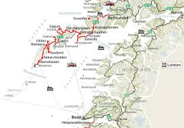 Scenic Route Map by Lofoten National Tourist Routes In Norway