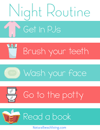 printable evening schedule home visual schedule printables for morning and night routine