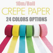 crepe paper streamers bulk aliexpress buy diy paper 10m roll crepe paper streamers