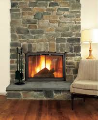 how to install rock around fireplace round designs
