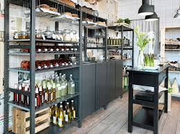Paint Ikea Kitchen Cabinets Ikea Ivar In Black A Small Grocery Store With Shelving Units And