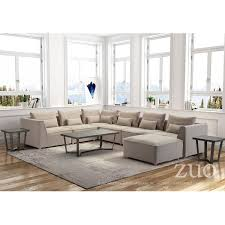 Single Chairs For Living Room Zuo Modern 100703 California Single Chair Sectional Sofa Unit In