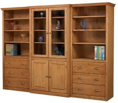 Low Bookcases With Doors Impressing Wall System Bookcase Hutch And Cabinets From Bookcases