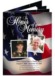 Memorial Programs Military Memorial Service Program Template Pacq Co